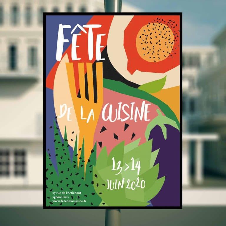 Affiche communication print - Fête de la cuisine - Vanessa Point